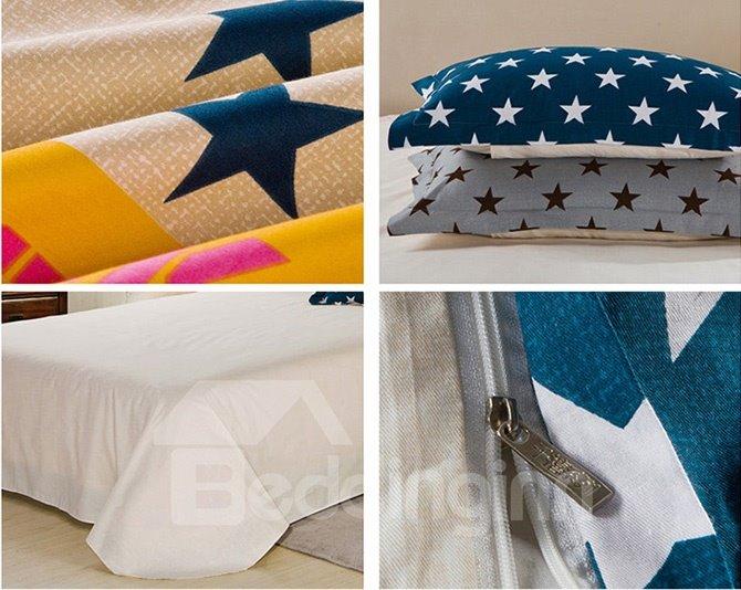 Bouncy Stars Pattern Kids 100% Cotton Duvet Cover Set