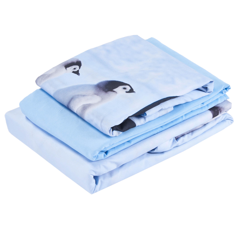 3D A Group of Penguins Cotton 4-Piece Bedding Sets/Duvet Covers