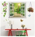 Forest Flower and Butterfly 3D Window Wall Sticker Set