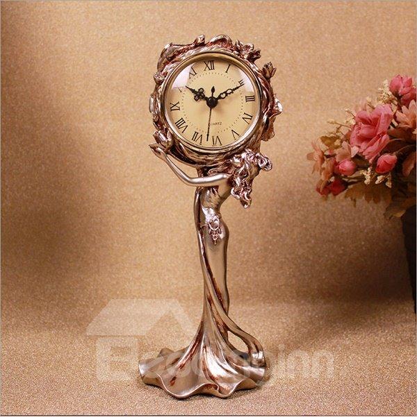 Gorgeous Chic Lady Design Resin Desktop Clock