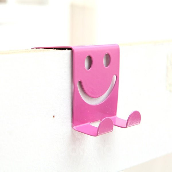Creative Smiley Face Iron Door Hook