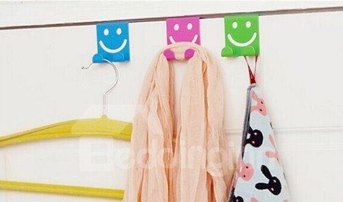 Creative Smiley Face Iron Door Hook