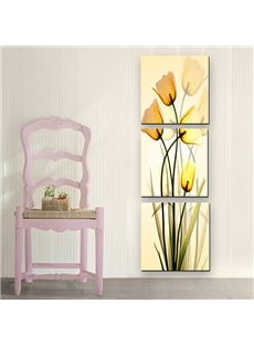 Wonderful Yellow Flowers 3-Panel Canvas Wall Art Prints