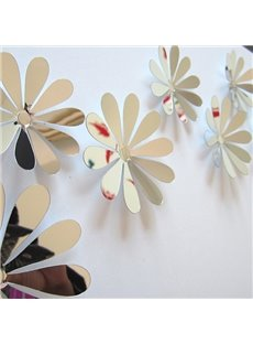 Wonderful Acrylic Mirror Surface Flower Design 3D Wall Sticker