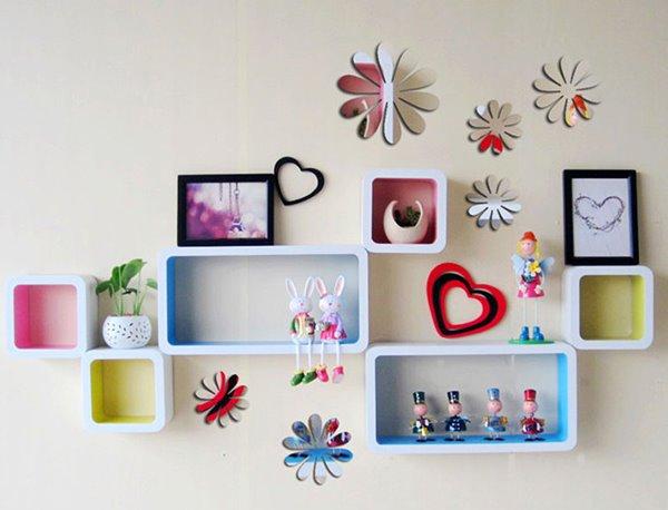 Wonderful Acrylic Mirror Surface Flower Design 3D Wall Sticker