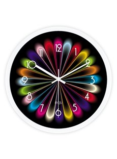 Fantastic Modern Colorful Bedroom Mute Wall Clock