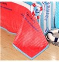 Polka Dot Stripes Printed Anti-Pilling Bed Blanket