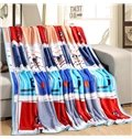 Basketball and Figure Design Bed Blanket for All Seasons