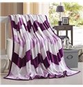 Purple Wave Print Super Cozy Flannel Blanket