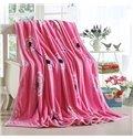 Dandelion Print Sweet Pink Blanket Suitable for All Seasons