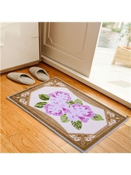 Gorgeous Pink Flowers Pattern Anti-slipping Doormat