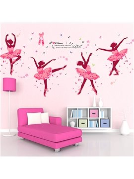 Wonderful Ballet Girls Nursery Kidsroom Removable Wall Sticker