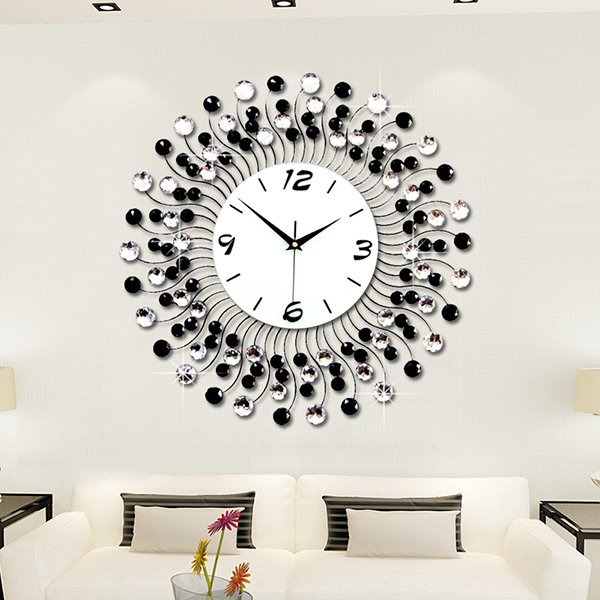 Modern Classic Living Room Diamond Decorative Wall Clock   . Clocks For Living Room. Home Design Ideas