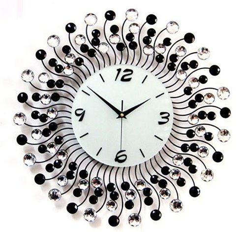 Modern Classic Living Room Diamond Decorative Wall Clock