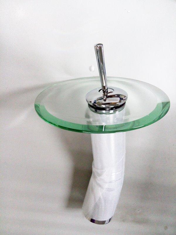 Brass Waterfall Single Hole Single Handle Bathroom Sink Faucets