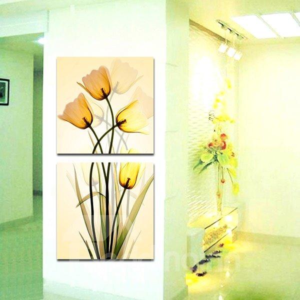 Wonderful Flowers Hallway 2-Panel Canvas Wall Art Prints