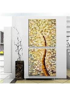 Wonderful Oil-Painting Style Abstract Tree 2-Panel Canvas Wall Art Prints