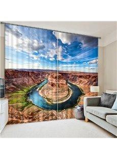 Stunning Horseshoe Bend Scenery Printing 3D Blackout Curtain