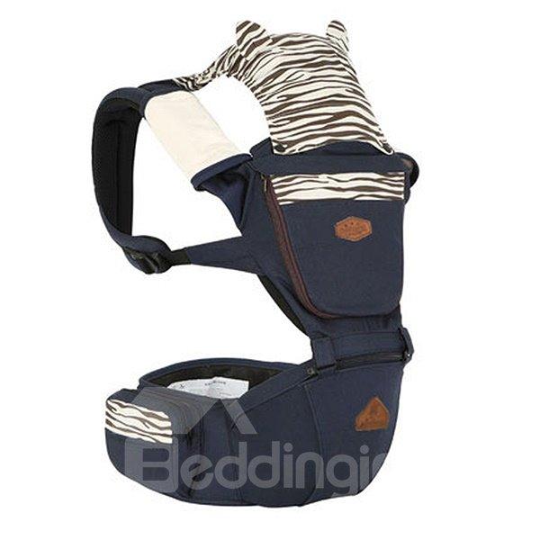 Trendy Zebra Pattern Dark Blue 100% Cotton Baby Carrier