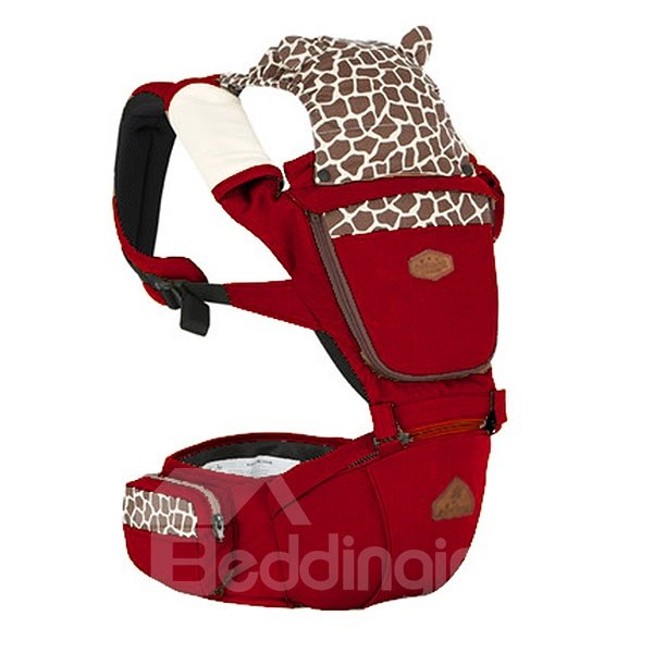 Lovely Giraffe Pattern Multi-Functional 100% Cotton Baby Carrier