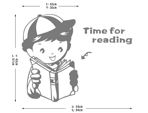 Creative Time for Reading Study Kidsroom Removable Wall Sticker