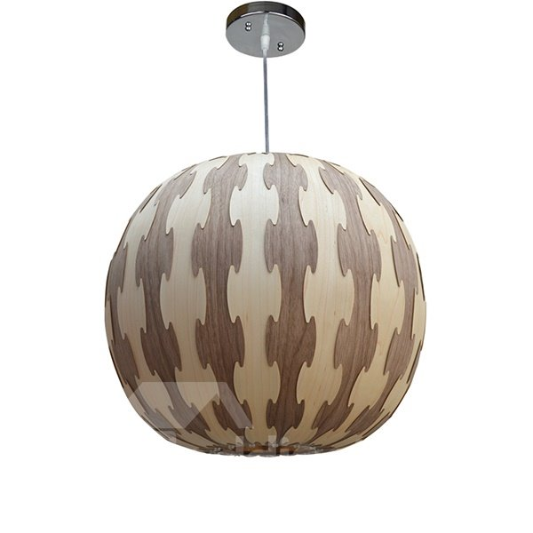 Amazing Round Ball Shape Decorative Stripe Pattern Wood ...