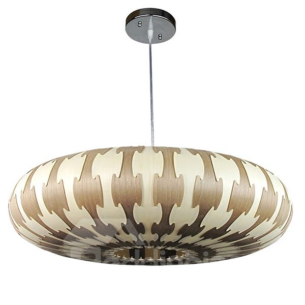 Wonderful Decorative Pattern Wood Pendant Light
