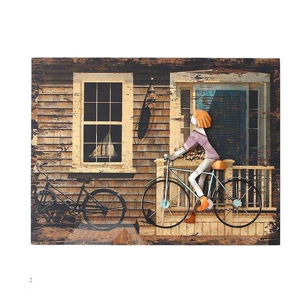 Bike Wall Art european style iron artwork 3d bike framed wall art print