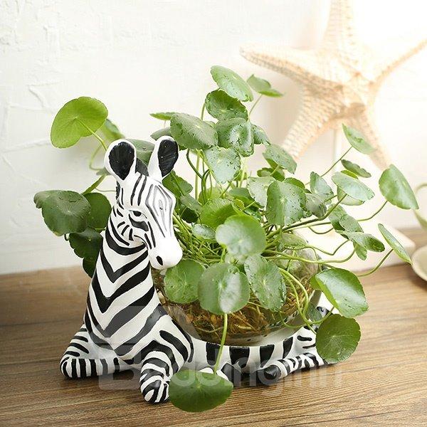 Wonderful Zebra Design Glass Flower Pot/Fish Bowl