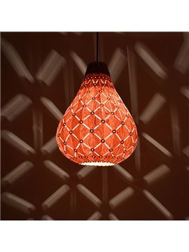 Wonderful Wooden Wood Veneer Lantern Design Pendant Lights
