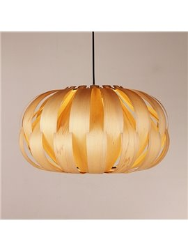 Modern Unique Wooden Bedroom Dining Room Pendant Light