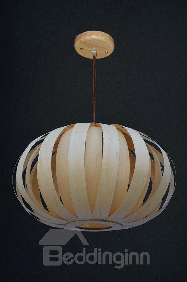 Modern Unique Wooden Lantern Design Pendant Light