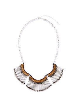 Women' s Vintage Steel Tube Tassel Alloy Necklace