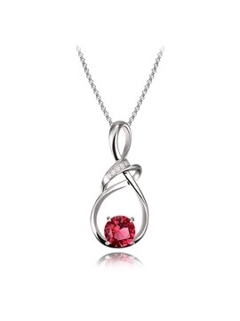 Women' s Fashion Diamante Water drop Alloy Pendant Necklace