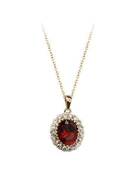 Women' s Amazing Diamante Crystal Pendant Necklace