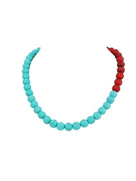 women' s Fashion Plastic Beads Statement Necklace