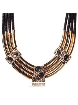 women' s Vintage Gemstone Statement Necklace