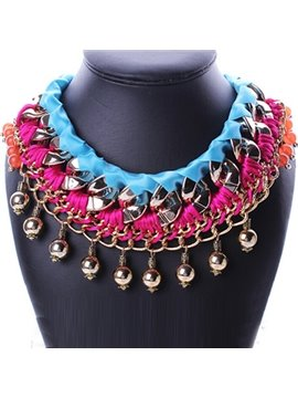 women' s Bohemian Style Crystl Beads Necklace