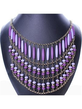 women' s Vintage Bohemian Style Statement Necklace