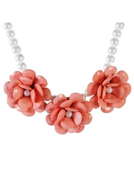 Women's Bohemian Style Plastic Beads Statement Necklace