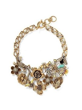 Women's Vintage Alloy Flower Lizard Necklace