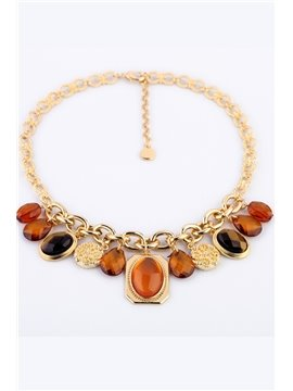Women's Fashion Waterdrop Alloy Choker Necklace