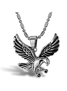 Men's Cool Titanium Steel Eagle Shape Necklace