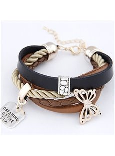 Women's Muliti-Layer Butterfly Knitting Bracelet