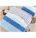 Small Fish and Helm Pattern Cotton Kids 3-Piece Duvet Cover Sets