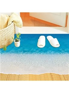 Amazing Sea Beach Waves Removable 3D floor Sticker