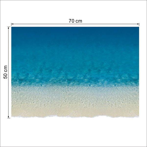 Blue Beach and Waves 3D Waterproof Floor Sticker