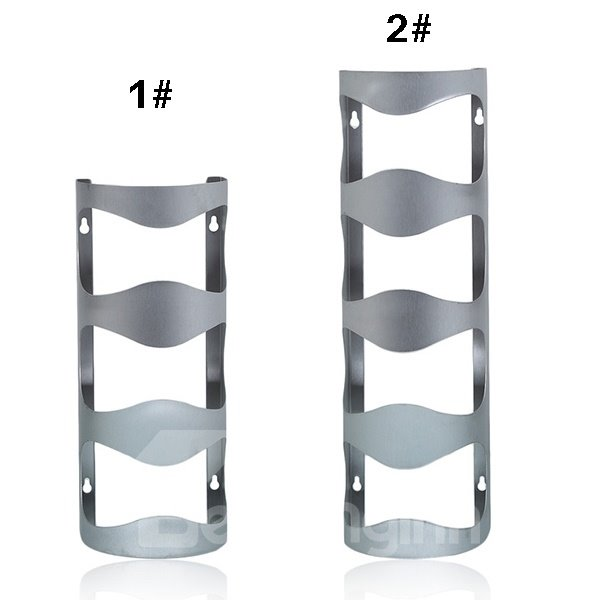 Fantastic Stainless Steel Wall Mount Wine Rack