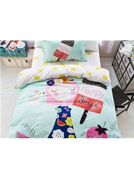 Wonderful Girl Dream 3-Piece Purified Cotton Kids Duvet Cover Sets