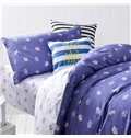 Dark Blue Crown Pattern 3-Piece Purified Cotton Kids Duvet Cover Sets